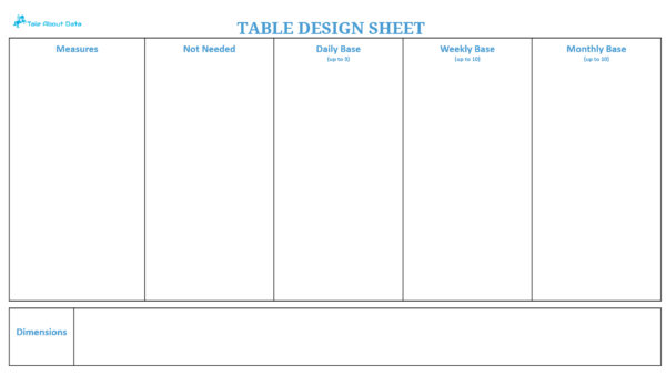 Table Design Sheet